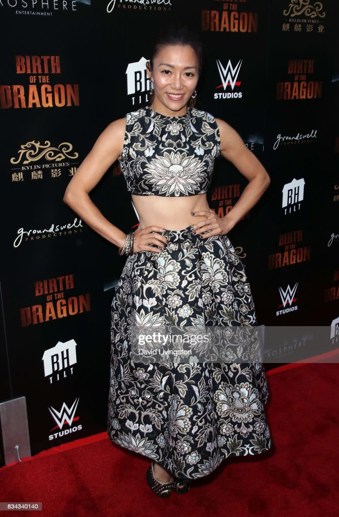 Actress JuJu Chan attends the premiere of WWE Studios' 'Birth of the Dragon' at ArcLight Hollywood on August 17, 2017 in Hollywood, California.