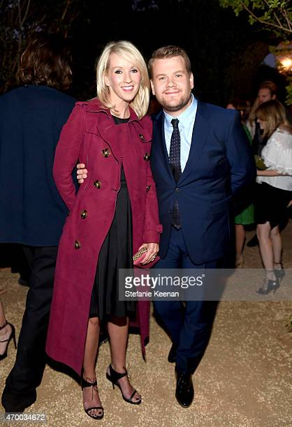 Actress Julia Corden and tv personality James Corden attend the Burberry 'London in Los Angeles' event at Griffith Observatory on April 16 2015 in...