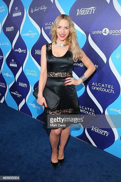 Actress Julia Dietze attends the 2nd Annual unite4humanity Presented By ALCATEL ONETOUCH at the Beverly Hilton Hotel on February 19 2015 in Los...