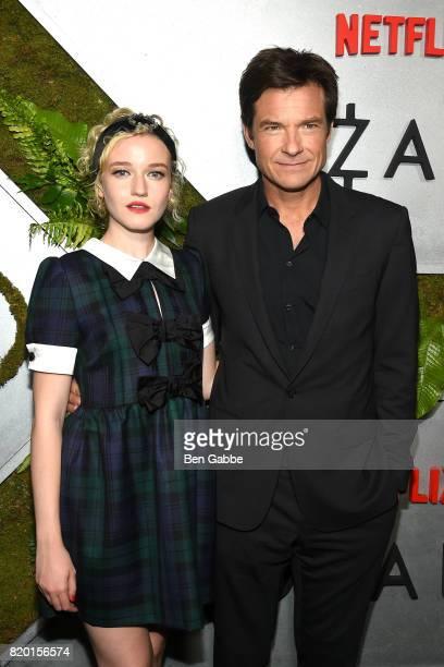 Actress Julia Garner and actor Jason Bateman attend the Netflix Original 'Ozark' New York Screening at The Metrograph on July 20 2017 in New York City