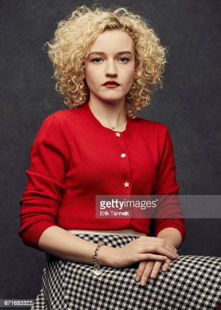 Actress Julia Garner from 'One Percent More Humid' poses at the 2017 Tribeca Film Festival portrait studio on on April 22 2017 in New York City