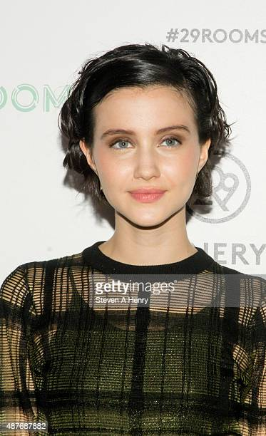 Actress Julia Goldani Telles attends Refinery 29's '29Rooms' opening night at 13 Huron Street on September 10 2015 in Brooklyn New York