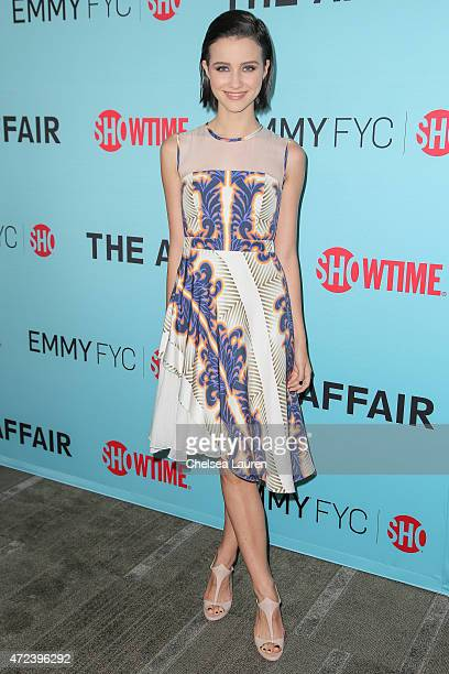 Actress Julia Goldani Telles attends Showtime's 'The Affair' screening and panel discussion at Samuel Goldwyn Theater on May 6 2015 in Beverly Hills...