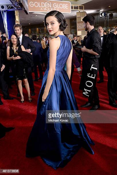 Actress Julia Goldani Telles attends the 72nd Annual Golden Globe Awards at The Beverly Hilton Hotel on January 11 2015 in Beverly Hills California