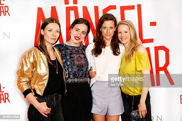Actress Julia Hartmann actress Tina Henkel actress Anja Knauer and actress Susanne Bormann attend the German premiere of the film 'Maengelexemplar'...