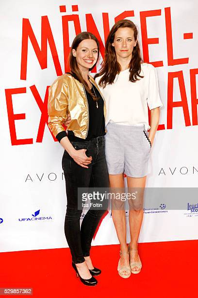 Actress Julia Hartmann and actress Anja Knauer attend the German premiere of the film 'Maengelexemplar' at Cinestar Kulturbrauerei on May 9 2016 in...