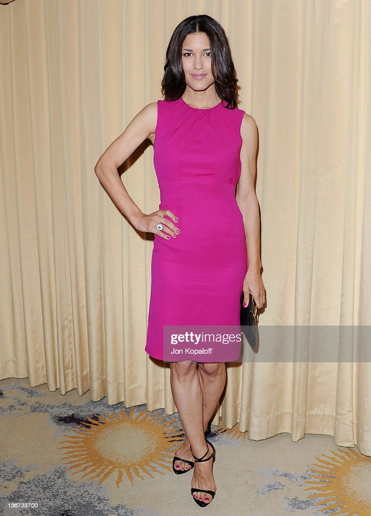 Actress Julia Jones arrives at Forevermark And InStyle Golden Globes Event 'A Promise Of Beauty And Brilliance' at the Beverly Hills Hotel on January...
