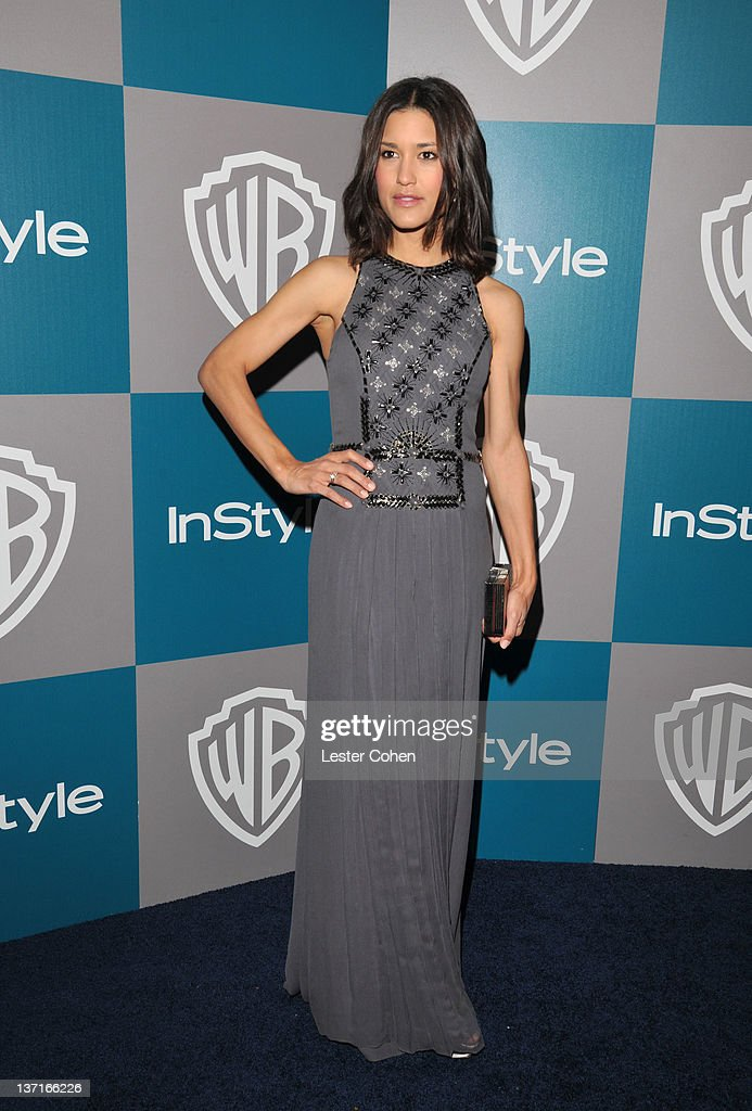 Actress Julia Jones arrives at the 13th Annual Warner Bros. and InStyle Golden Globe After Party held at The Beverly Hilton hotel on January 15, 2012 in Beverly Hills, California.