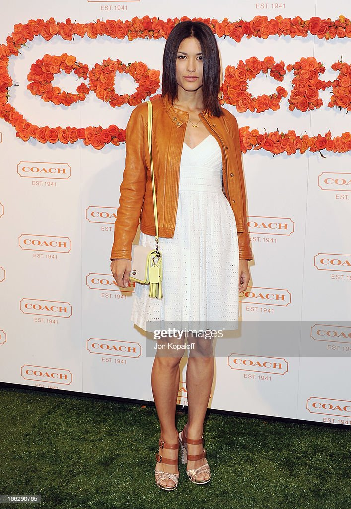 Actress Julia Jones arrives at the 3rd Annual Coach Evening To Benefit Children's Defense Fund at Bad Robot on April 10, 2013 in Santa Monica, California.