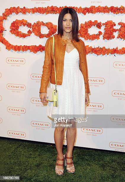 Actress Julia Jones arrives at the 3rd Annual Coach Evening To Benefit Children's Defense Fund at Bad Robot on April 10 2013 in Santa Monica...