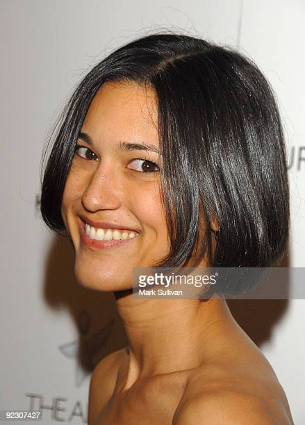 Actress Julia Jones arrives at The Art of Elysium's GENESIS event at the HD Buttercup on October 10 2009 in Los Angeles California