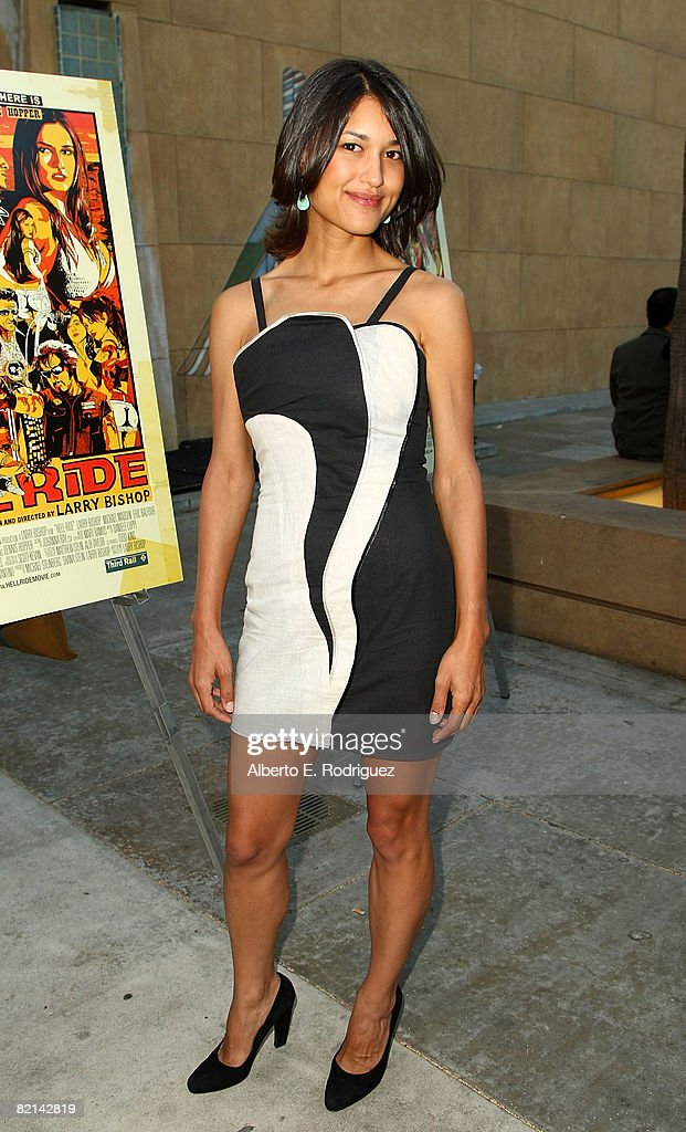 Actress Julia Jones arrives at the premiere of The Weinstein Company's 'Hell Ride' held at the Egyptian Theater on July 31 2008 in Los Angeles...