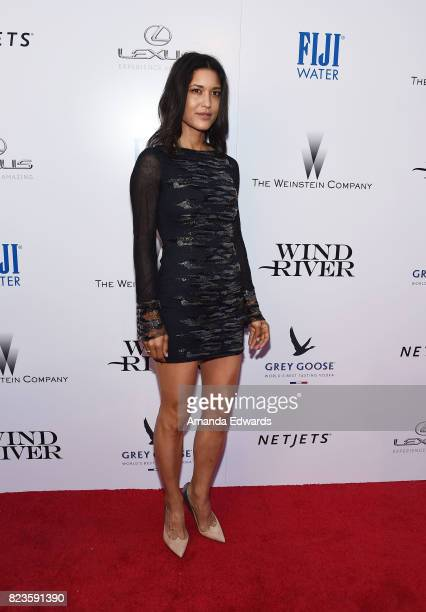 Actress Julia Jones arrives at the premiere of The Weinstein Company's 'Wind River' at The Theatre at Ace Hotel on July 26 2017 in Los Angeles...