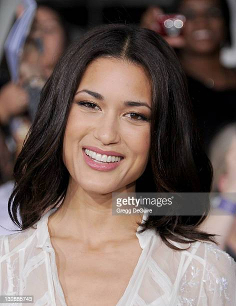 Actress Julia Jones arrives at 'The Twilight Saga Breaking Dawn Part 1' Los Angeles Premiere at Nokia Theatre LA Live on November 14 2011 in Los...