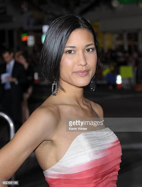 Actress Julia Jones arrives to the premiere of Summit Entertainment's 'The Twilight Saga New Moon' at the Mann Village Theater on November 16 2009 in...