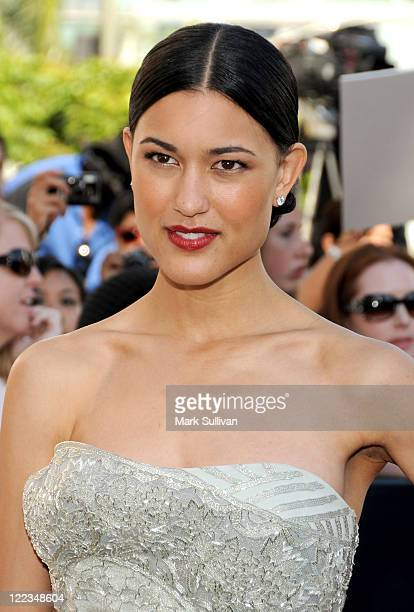 Actress Julia Jones arrives to the premiere of 'The Twilight Saga Eclipse' during the 2010 Los Angeles Film Festival at Nokia Theatre LA Live on June...