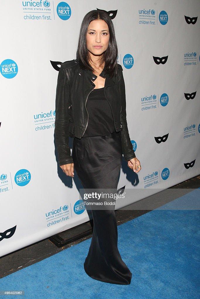 Actress Julia Jones at the UNICEF Next Generation Third Annual UNICEF Black White Masquerade Ball benefiting UNICEF's lifesaving programs including...