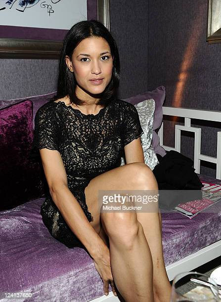 Actress Julia Jones attends Mercedes Benz Fashion Week Spring 2012 at the MercedesBenz Star Lounge at Lincoln Center on September 8 2011 in New York...