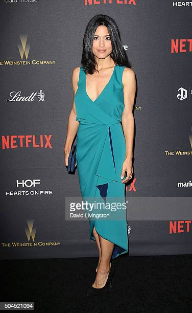 Actress Julia Jones attends the 2016 Weinstein Company and Netflix Golden Globes after party on January 10 2016 in Los Angeles California