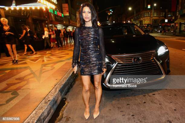 Actress Julia Jones attends the after party for 'Wind River' Los Angeles Premiere presented in partnership with FIJI Water at Clifton's Cafeteria on...