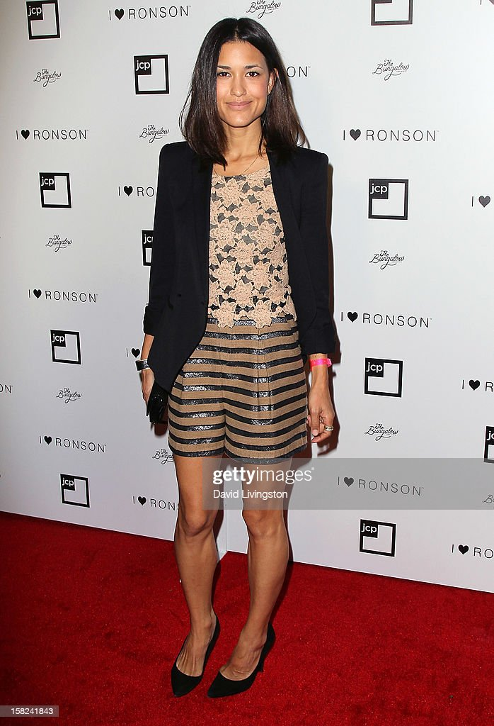 Actress Julia Jones attends the 'I Heart Ronson' Collection and jcpenney celebration at The Bungalow on December 11, 2012 in Santa Monica, California.