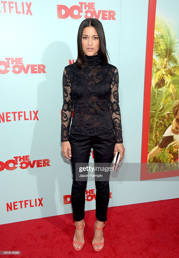 Actress Julia Jones attends the premiere of Netflix's 'The Do Over' at Regal LA Live Stadium 14 on May 16 2016 in Los Angeles California