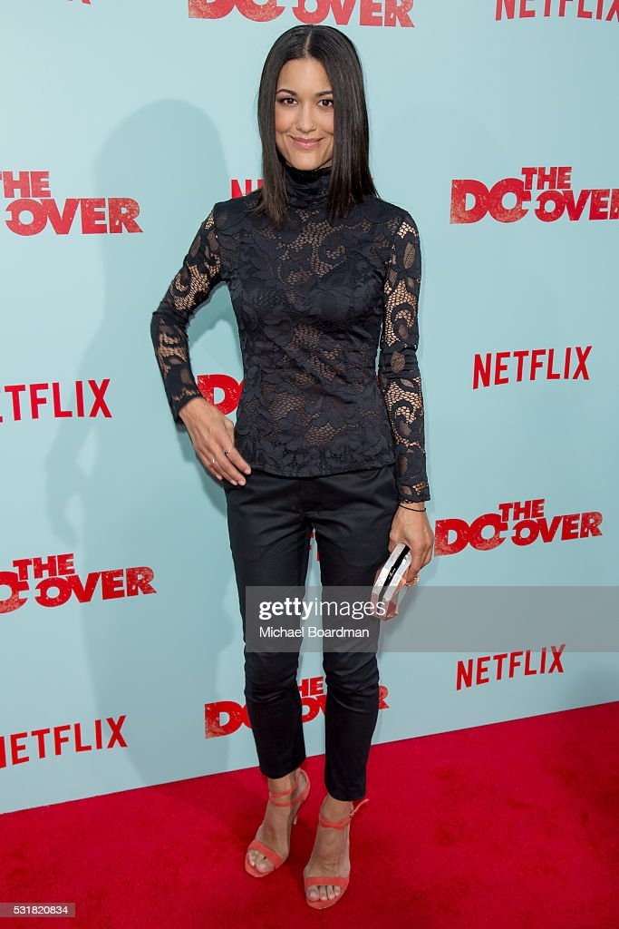 Actress Julia Jones attends the Premiere of Netflix's 'The Do Over' at the Regal LA Live Stadium 14 on May 16 2016 in Los Angeles California