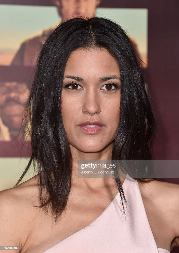 Actress Julia Jones attends the premiere of Netflix's 'The Ridiculous 6' at AMC Universal City Walk on November 30 2015 in Universal City California