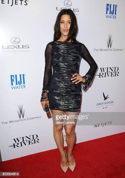 Actress Julia Jones attends the premiere of 'Wind River' at The Theatre at Ace Hotel on July 26 2017 in Los Angeles California