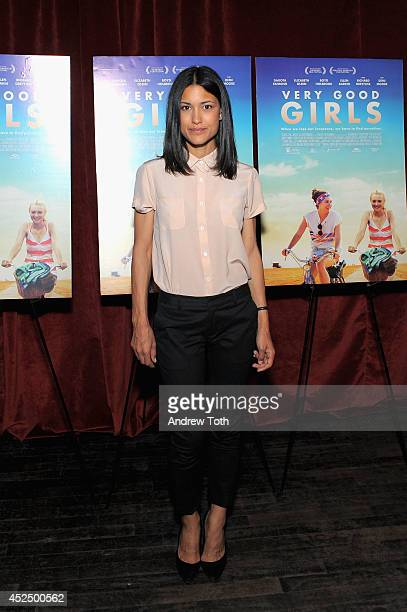 Actress Julia Jones attends the 'Very Good Girl' premiere at Tribeca Grand Hotel on July 21 2014 in New York City