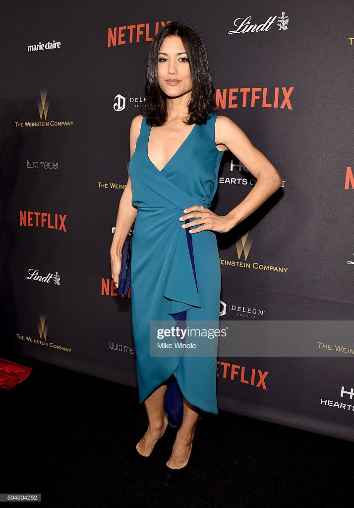 Actress Julia Jones attends The Weinstein Company and Netflix Golden Globe Party presented with DeLeon Tequila Laura Mercier Lindt Chocolate Marie...