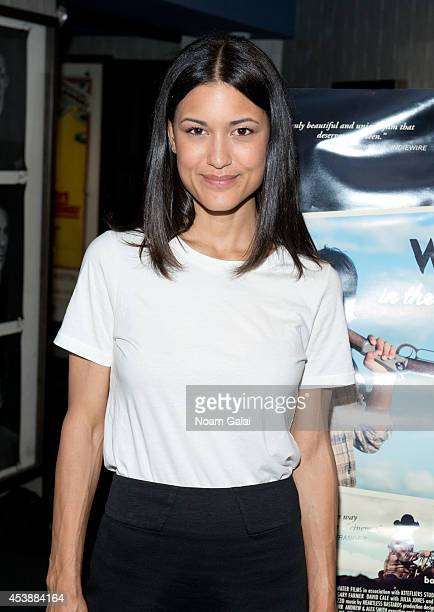Actress Julia Jones attends the 'Winter In The Blood' New York Premiere at IFC Center on August 20 2014 in New York City