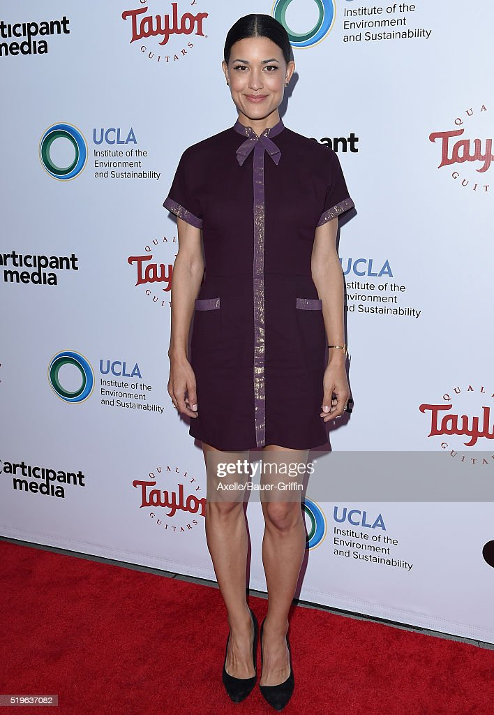 Actress Julia Jones attends UCLA Institute of the Environment and Sustainability celebration of the Champions Of Our Planet's Future on March 24 2016...
