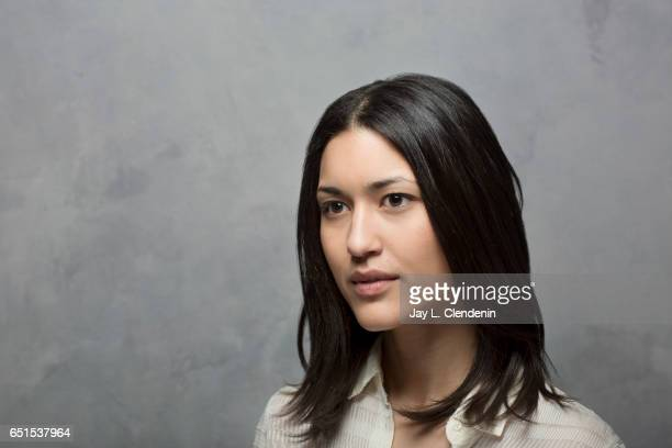 Actress Julia Jones from the film Wind River is photographed at the 2017 Sundance Film Festival for Los Angeles Times on January 22 2017 in Park City...