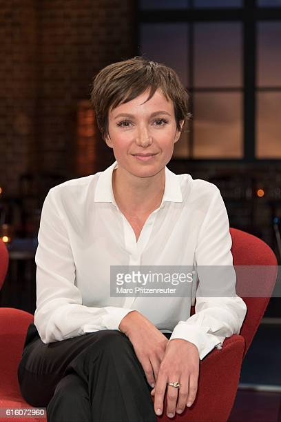 Actress Julia Koschitz attends the 'Koelner Treff' TV Show at the WDR Studio on October 21 2016 in Cologne Germany