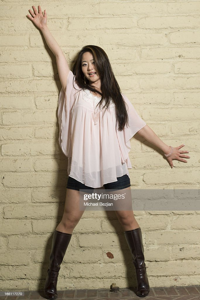 Actress Julia Ling attends Posing Heroes, 'A Dog Day Afternoon' Benefiting A Wish For Animals on March 30, 2013 in Los Angeles, California.