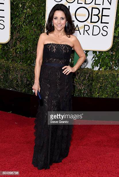 Actress Julia Louis Dreyfus attends the 73rd Annual Golden Globe Awards held at the Beverly Hilton Hotel on January 10 2016 in Beverly Hills...