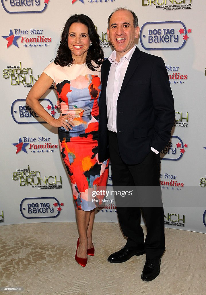Actress Julia Louis-Dreyfus and writer Armando Iannucci attend the 2014 Annual Garden Brunch at the Beall-Washington House on May 3, 2014 in Washington, DC.
