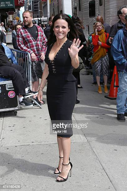 Actress Julia LouisDreyfus arrives at 'Late Show with David Letterman' at Ed Sullivan Theater on May 20 2015 in New York City