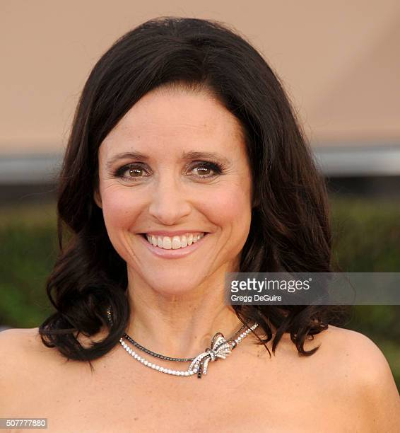 Actress Julia LouisDreyfus arrives at the 22nd Annual Screen Actors Guild Awards at The Shrine Auditorium on January 30 2016 in Los Angeles California