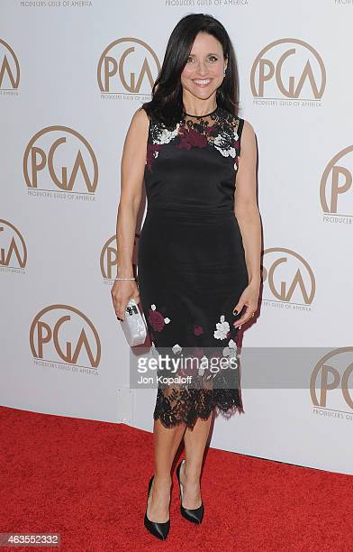 Actress Julia LouisDreyfus arrives at the 26th Annual PGA Awards at the Hyatt Regency Century Plaza on January 24 2015 in Los Angeles California
