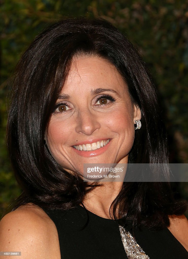 Actress <a gi-track='captionPersonalityLinkClicked' href=/galleries/search?phrase=Julia+Louis-Dreyfus&family=editorial&specificpeople=208965 ng-click='$event.stopPropagation()'>Julia Louis-Dreyfus</a> arrives at the Academy of Motion Picture Arts and Sciences' Governors Awards at The Ray Dolby Ballroom at Hollywood & Highland Center on November 16, 2013 in Hollywood, California.