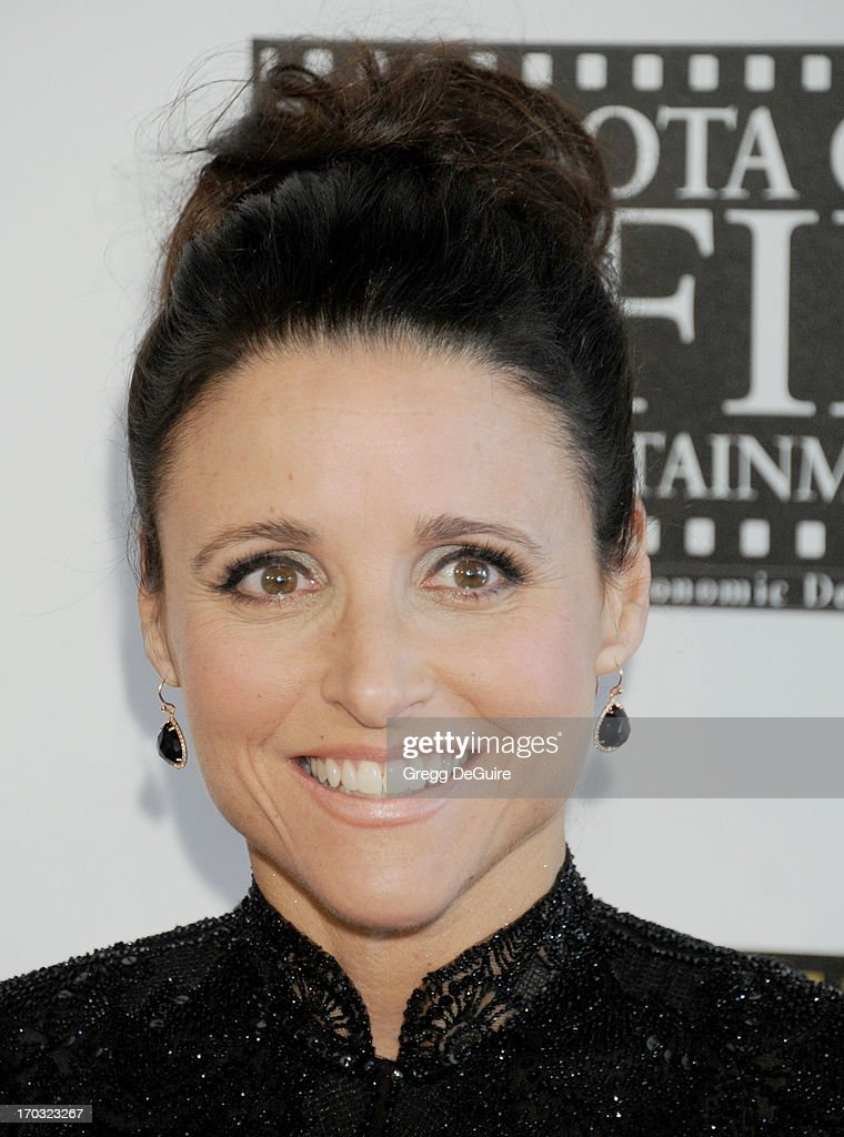 Actress <a gi-track='captionPersonalityLinkClicked' href=/galleries/search?phrase=Julia+Louis-Dreyfus&family=editorial&specificpeople=208965 ng-click='$event.stopPropagation()'>Julia Louis-Dreyfus</a> arrives at the Broadcast Television Journalists Association 3rd Annual Critics' Choice Television Awards at The Beverly Hilton Hotel on June 10, 2013 in Beverly Hills, California.