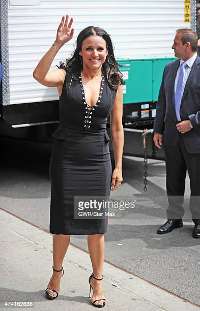 Actress Julia LouisDreyfus arrives at 'The Late Show with David Letterman' finale on May 20 2015 in New York City