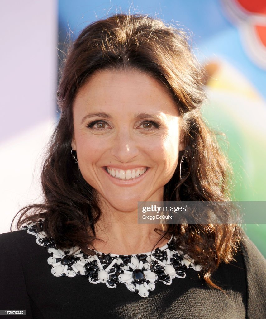 Actress <a gi-track='captionPersonalityLinkClicked' href=/galleries/search?phrase=Julia+Louis-Dreyfus&family=editorial&specificpeople=208965 ng-click='$event.stopPropagation()'>Julia Louis-Dreyfus</a> arrives at the Los Angeles premiere of 'Planes' at the El Capitan Theatre on August 5, 2013 in Hollywood, California.