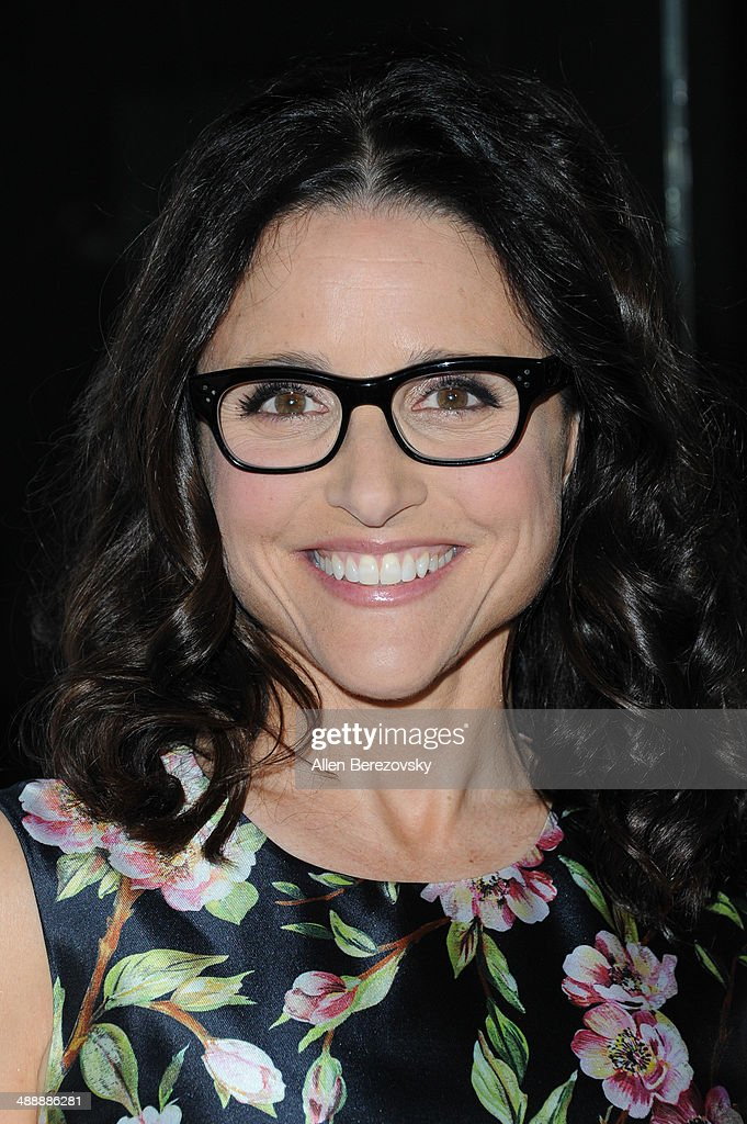 Actress Julia Louis-Dreyfus arrives at the Los Angeles premiere of 'Fed Up' at Pacfic Design Center on May 8, 2014 in West Hollywood, California.