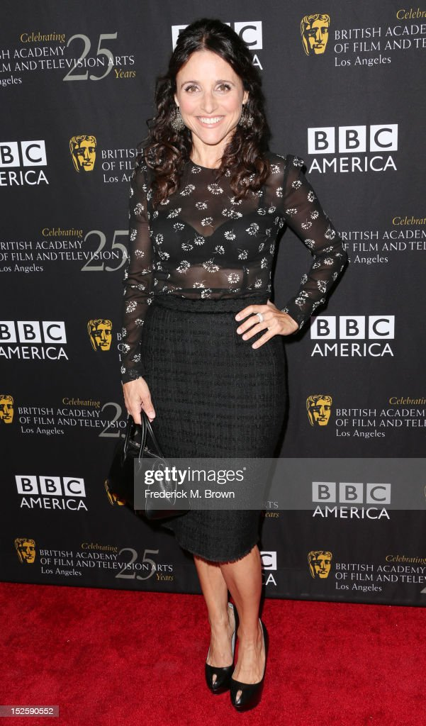 Actress Julia Louis-Dreyfus attends BAFTA LA TV Tea 2012 Presented By BBC America at The London Hotel Hollywood on September 22, 2012 in West Hollywood, California.