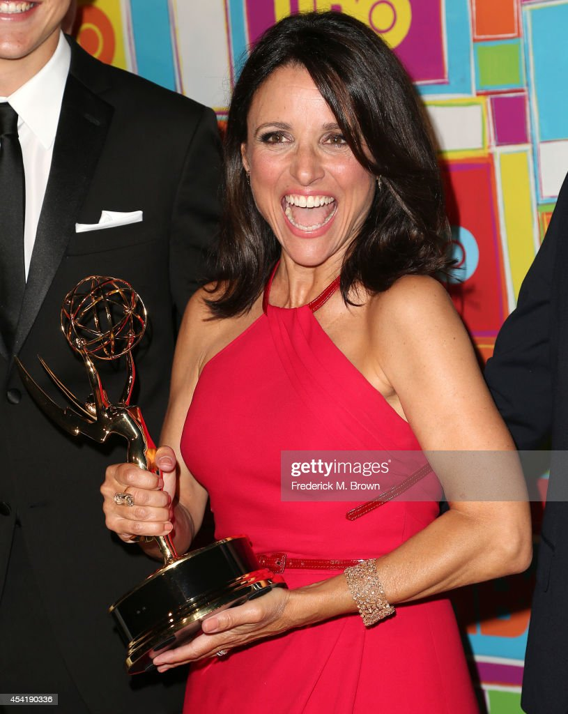 Actress Julia LouisDreyfus attends HBO's Annual Primetime Emmy Awards Post Awards Reception at The Plaza at the Pacific Design Center on August 25...