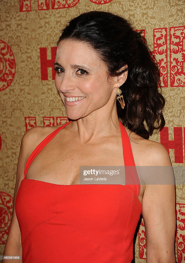 Actress Julia LouisDreyfus attends HBO's Golden Globe Awards after party at Circa 55 Restaurant on January 12 2014 in Los Angeles California