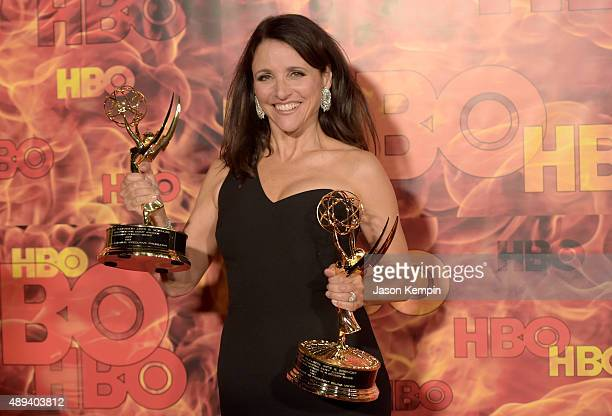 Actress Julia LouisDreyfus attends HBO's Official 2015 Emmy After Party at The Plaza at the Pacific Design Center on September 20 2015 in Los Angeles...